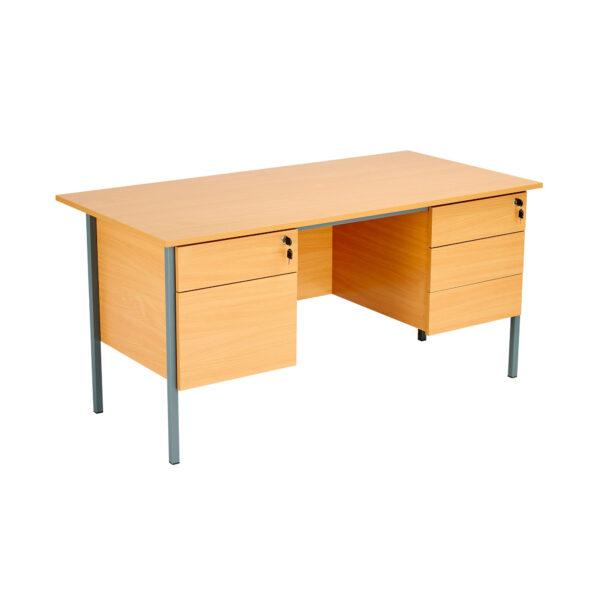 Eco 18 Single Desk 2 + 3 Drawers