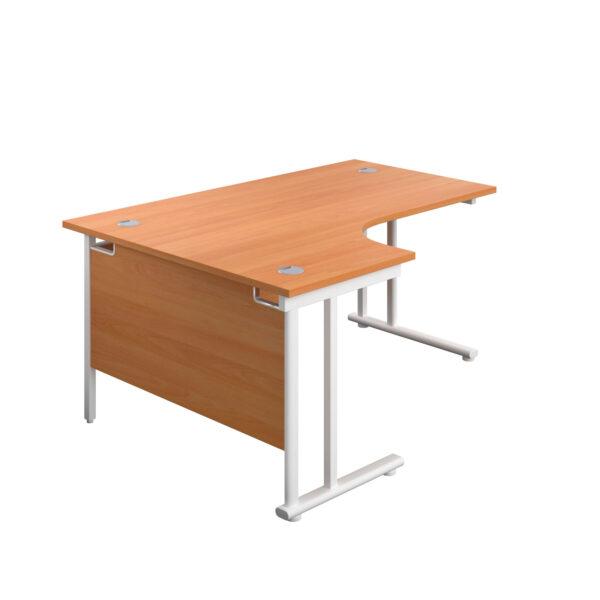 Radial Upright Leg Desk