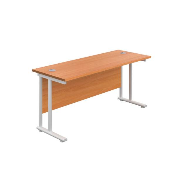 Twin Upright Leg Desk